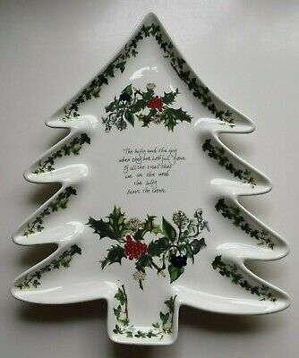 Portmeirion Holly & Ivy Christmas Tree Plate  13   Very Good Condition • 22£