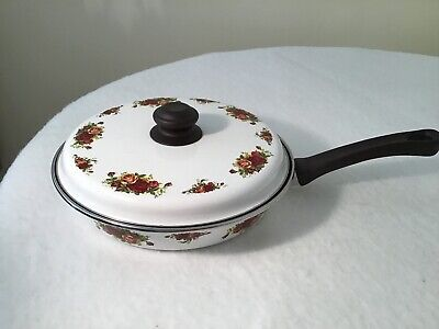 Royal Albert Old Country Roses Frying Pan And Lid • 7.50£