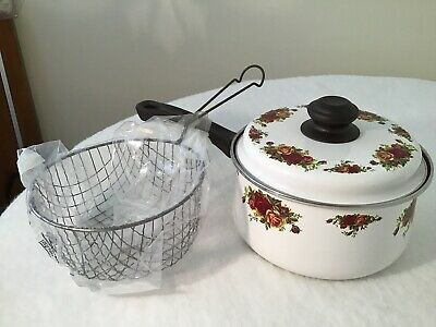 Royal Albert Old Country Roses Saucepan And Lid With Wire Basket • 5.50£