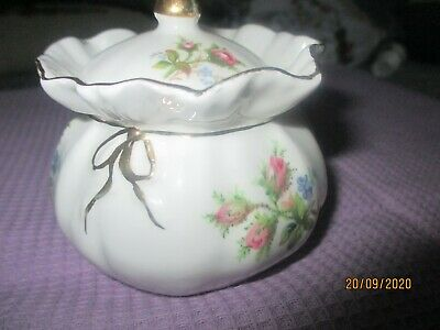 Royal Albert  Mustard Jam Pot  Dolly Bag Shape Perfect Condition 2.5 In High • 4.95£