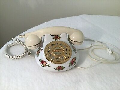 Vintage Royal Albert Old Country Roses Telephone ! • 5.50£
