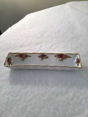 Royal Albert Old Country Roses Trinket Tray/Hat Pin Dish Sweets Mints 21cm X 5cm • 2.75£