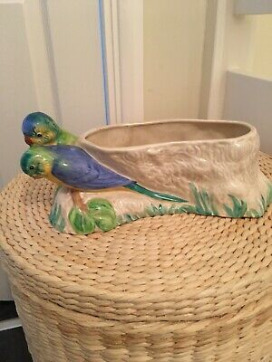 Clarice Cliff Budgerigar Planter/bowl. Signed Newport Pottery Co, England. • 249£