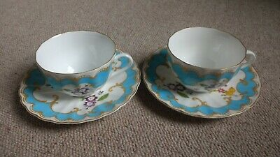 Royal Worcester - 2 Primula Cups And Saucers. Pair. Tea. 1997. Fine China. • 19.99£