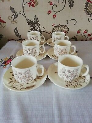 J & G Meakin Windswept Cups And Saucers • 3.70£