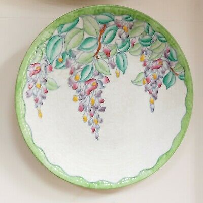 Crown Ducal Charlotte Rhead Wall Charger Plate  12.5  WISTERIA 4954 1937-39 • 165£
