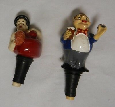 Babbacombe Pottery The Drinkers  2 Bottle Stoppers Babbacombe Pottery • 15£