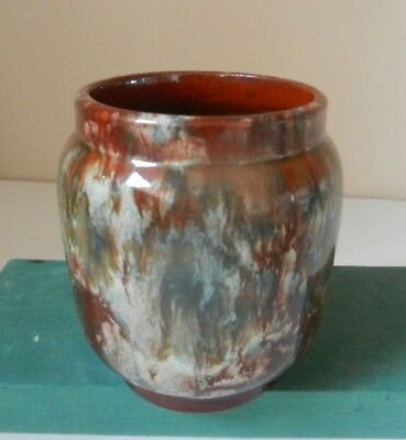 Watcombe Torquay Devon Pottery Vase .marbled  Early • 15£
