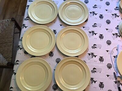 Vintage Branksome China Salad Plates Yellow Twin Tone X 6 Approx 21 Cm • 12.99£