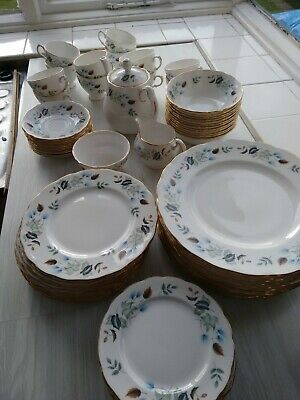 Massive 76 Piece Colclough  'linden' Bone China Tea Set Dinner Set  • 150£