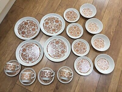 Retro 1970s Biltons Ironware Dinner Set Tableware 20 Pieces Excellent Condition • 45£