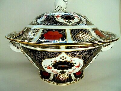 Royal Crown Derby Lmari 1128 Large Sauce Tureen And Cover • 650£