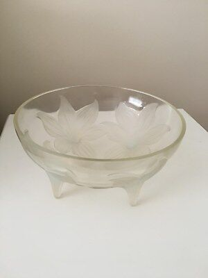 Rene Lalique LYS Clear , Frosted And Opalescent Glass Bowl • 1,399£