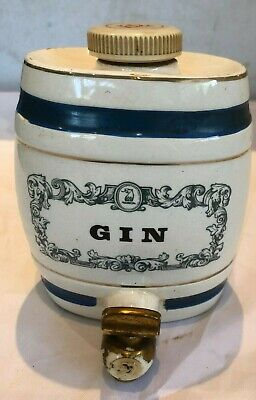 Royal Victoria Wade Pottery GIN Barrel Decanter - W & A Gilbey Limited • 12£