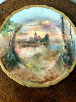 RARE ROYAL DOULTON J HUGHES HAND PAINTED SHAKESPEAR'S COUNTRY PLATE 265mm A/F • 7£