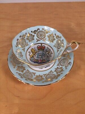 Paragon Queen Elizabeth Coronation 6th Anniversary Teacup And Saucer Canada E&P • 65£