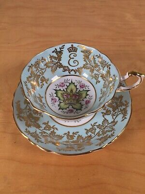 Paragon Queen Elizabeth Coronation 1st Anniversary Teacup And Saucer • 45£