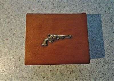 Boxed Set Of 4 Antique Gun / Pistol Themed Sandland Ware Pin / Trinket Dishes • 10£