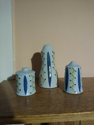 Buchan Pottery Portobello Edinburgh Hebrides Condiments Set • 3£