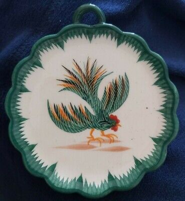 Henriot Quimper Hand Painted Wall Plaque / Dish Rooster Cockerill  • 2.99£