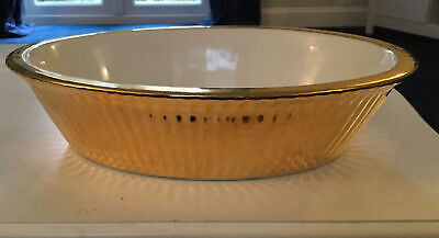 Royal Worcester Gold  Oval Serving Casserole Dish Excellent Condition • 22£