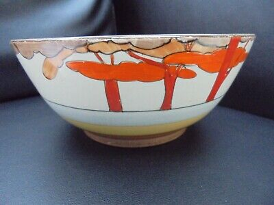 A Clarice Cliff CORAL FIRS Fruit Bowl • 210£
