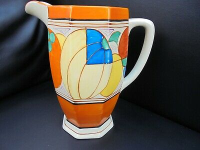 A Clarice Cliff MELONS Large Size Athens Shape Jug • 550£