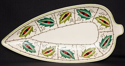 Charlotte Rhead, Crown Ducal Vintage Dish 11.5  By 5.5  SIGNED • 12.95£