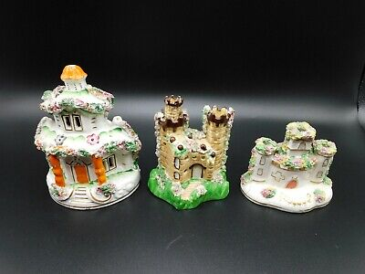 Vintage Staffordshire Pottery Castle And House.  • 14£