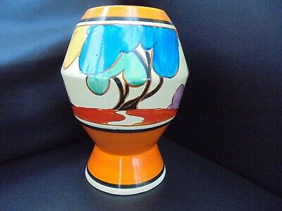 A Clarice Cliff Shape 365 Vase In BLUE AUTUMN • 1,350£