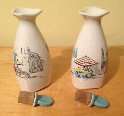 Midwinter Cannes Pattern Oil Bottles By Hugh Casson • 30£