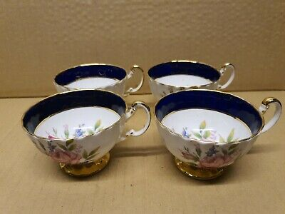 4 X Matching Aynsley Cabinet Cups Pink Roses Fine China  • 20£