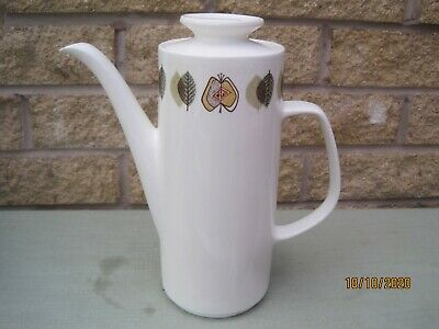 Retro Vintage J&G Meakin Coffee Pot 'Applewood' Design On Studio Shape C1960 • 16.50£