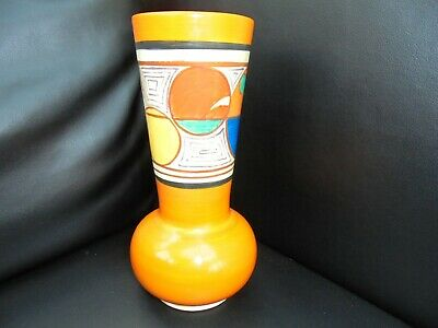 A Clarice Cliff MELONS Shape 119 Vase • 620£