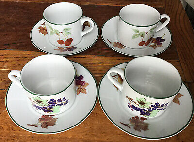 Royal Worcester Evesham Vale 1986 Coffee Cans & Saucers X4  • 9£