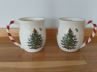Spode Christmas Tree Mugs Set Of 2 • 10£