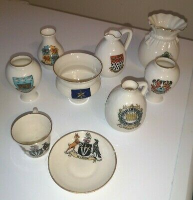W.H. Goss Crested China Miniatures Collection • 5£