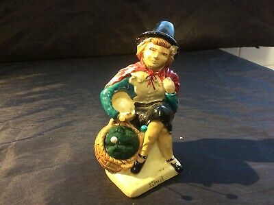 Vintage Manor Ware Welsh Lady Pin Cushion And Thimble Holder Figurine • 15£