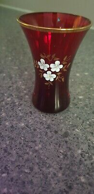 Ruby Red Miniature Glass Vase  • 1£