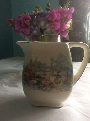 Vintage L & Sons Milk Cream Jugs   In An Old World Garden  Design Bone China • 2.99£