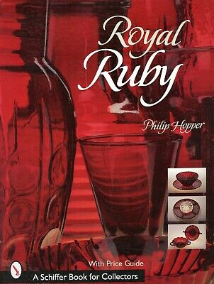 Anchor Hocking Royal Ruby Art Glass - Patterns Types / Illustrated Book + Values • 23.11£