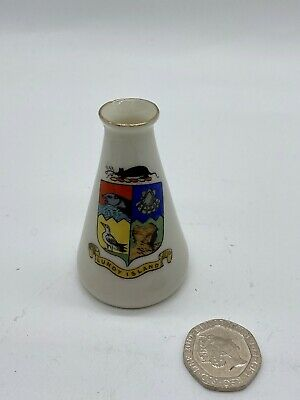 Arcadian Crested China Lundy Island Souvenir Collectable Miniature Vase • 18.50£