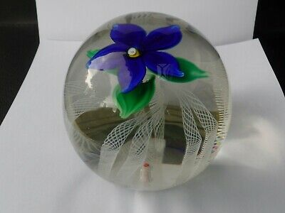 Vintage Magnum Strathearn Flowered Glass Paperweight With S And 70 Date Cane • 19.99£