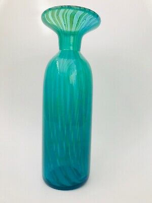 Mdina-Striped Ming Pattern Glass Vase • 11.99£