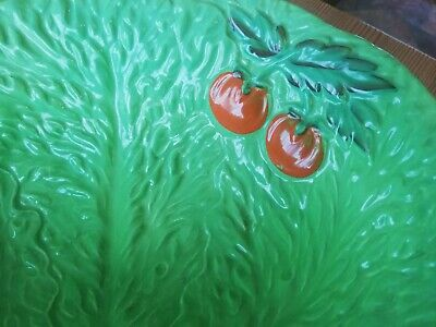 Vintage Beswick Ware Lettuce/Cabbage Leaf And Tomato Small Salad Dish • 1.89£