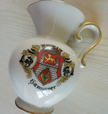 Crested Ware, LINDNER Jug With COAT OF ARMS, HANNOVER Germany • 2.10£