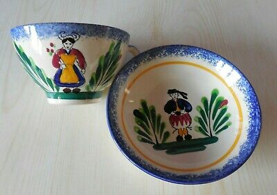 French Art Pottery - ST. MALO - Attractive Cup & Saucer. • 14£