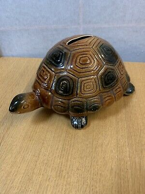 Arthur Wood Ceramic Brown Tortoise Money Box • 6£