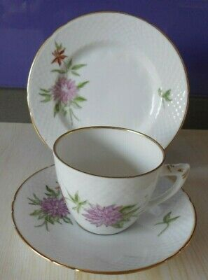 Bing & Grondahl Porcelain. Hand Painted Trio Dated 1948-1952. Good Condition • 16£