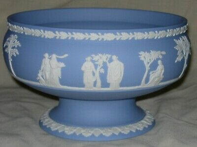Good Quality Wedgwood Imperial Pale Blue Jasper Footed Bowl • 12.50£